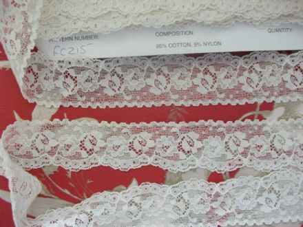Exclusive English Nottingham Cotton Cluny Lace Vintage style - Ecru FC215 Bridal